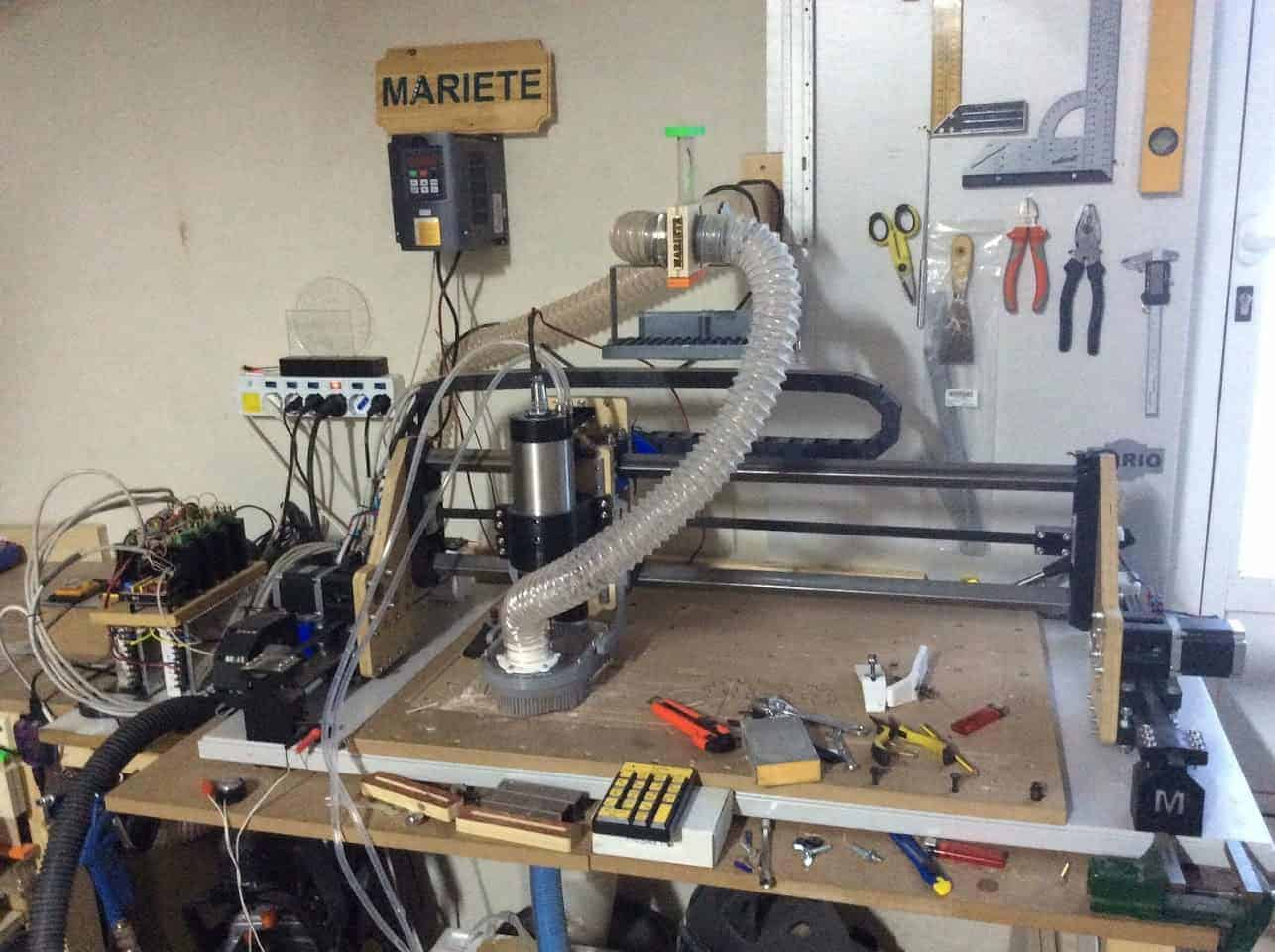 Homemade CNC 3D printed with Arduino