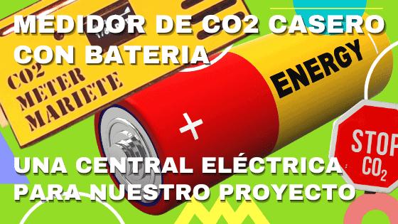 Medidor de CO₂ con batería (bien hecho)