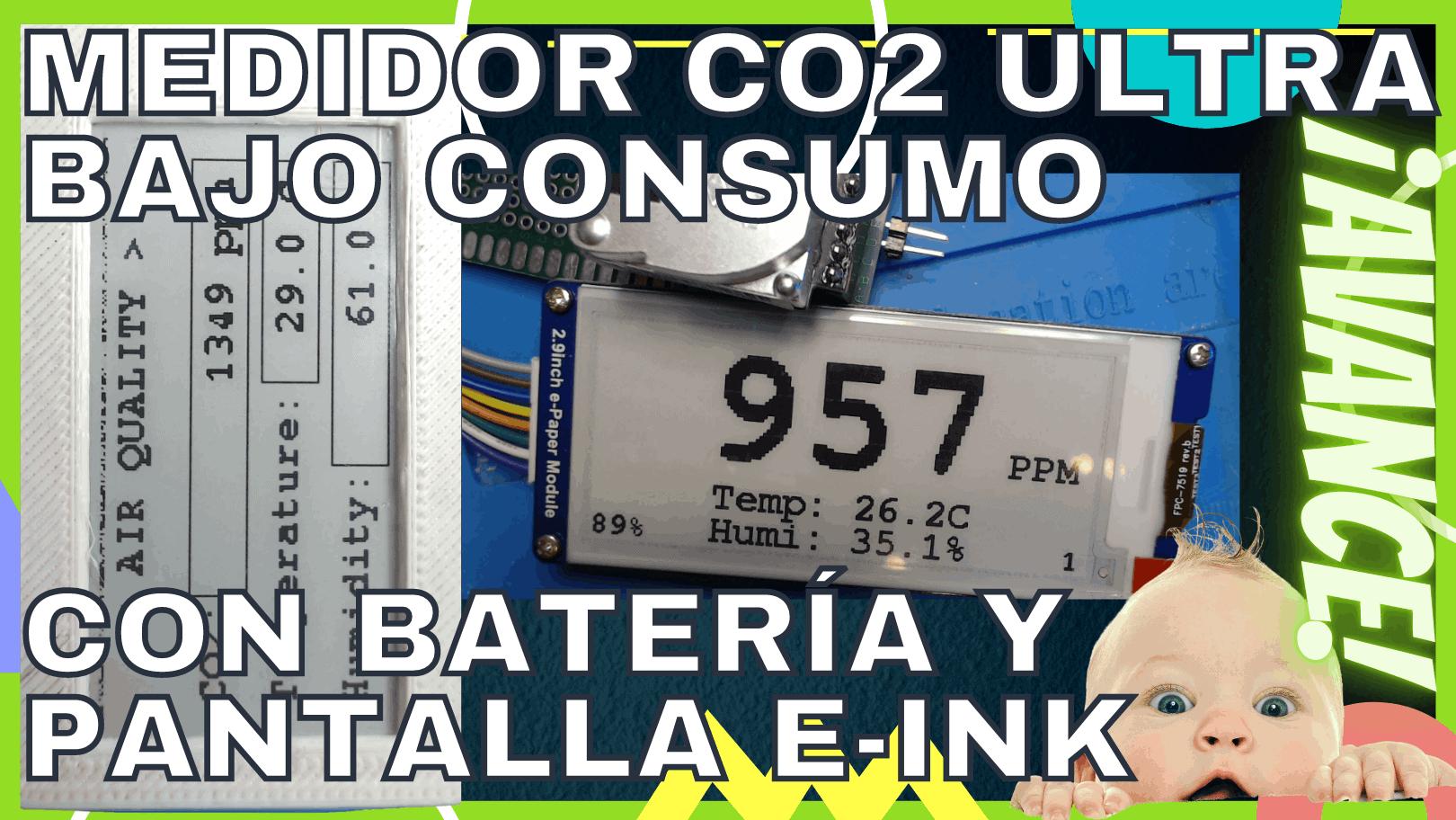 Diseño de un medidor de CO2 de ultra bajo consumo